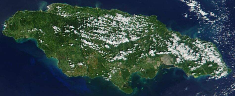 Maps of jamaica map library maps of the world detailed satellite map of jamaica gumiabroncs Gallery