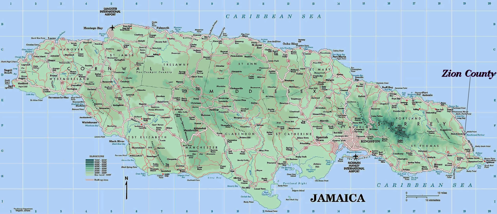 Maps of Jamaica Map Library Maps of the World