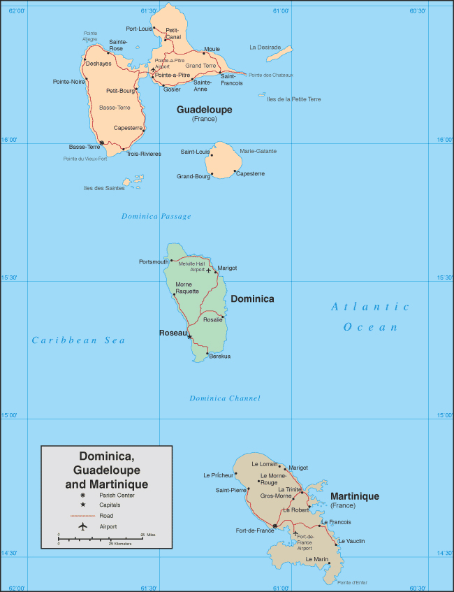 Maps of Martinique Map Library Maps of the World