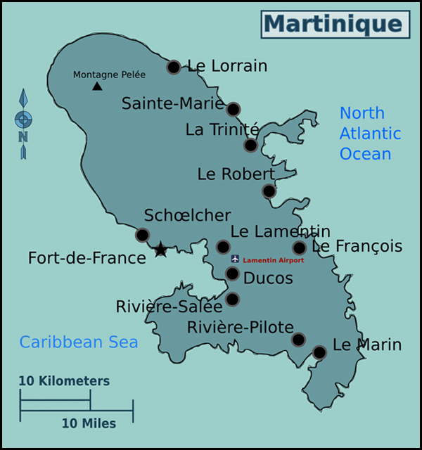 Maps of Martinique Map Library