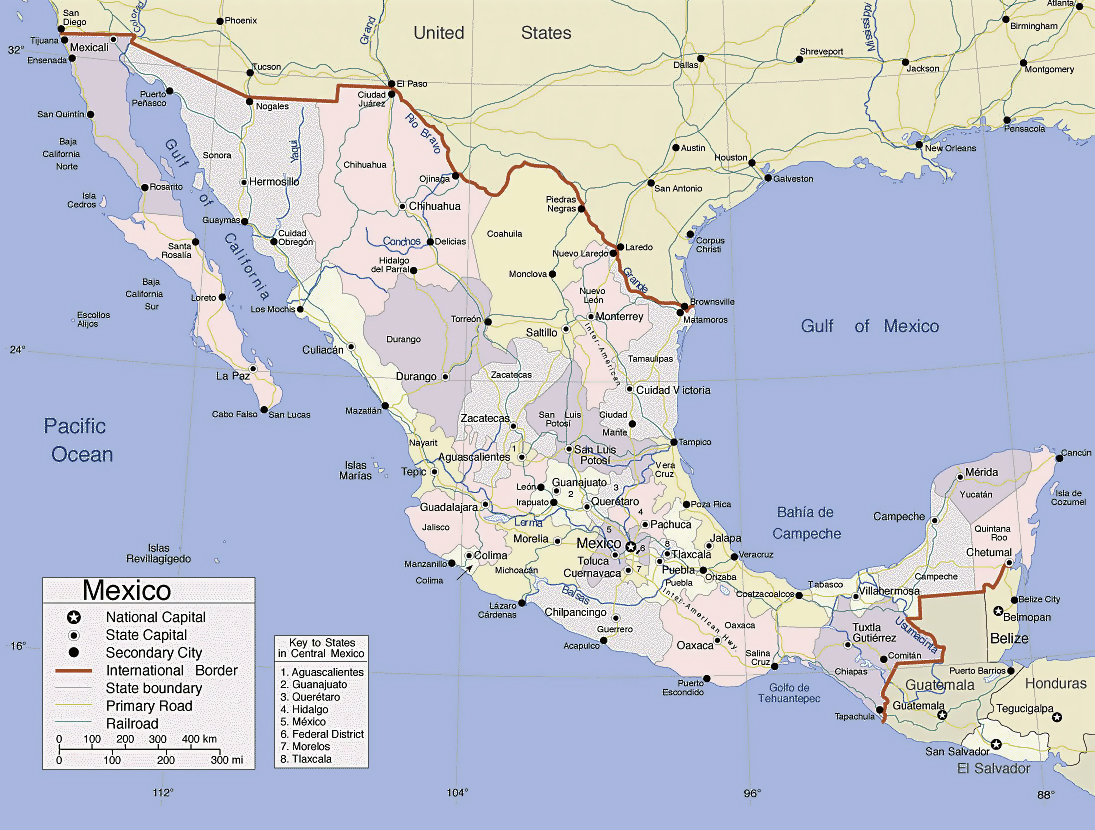 Maps of Mexico Map Library Maps of the World