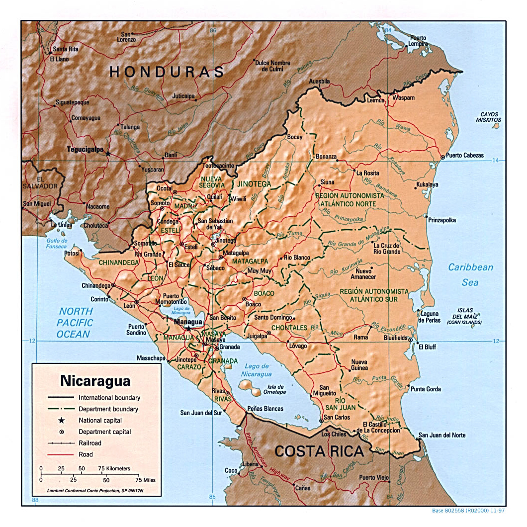 Maps of Nicaragua | Map Library | Maps of the World