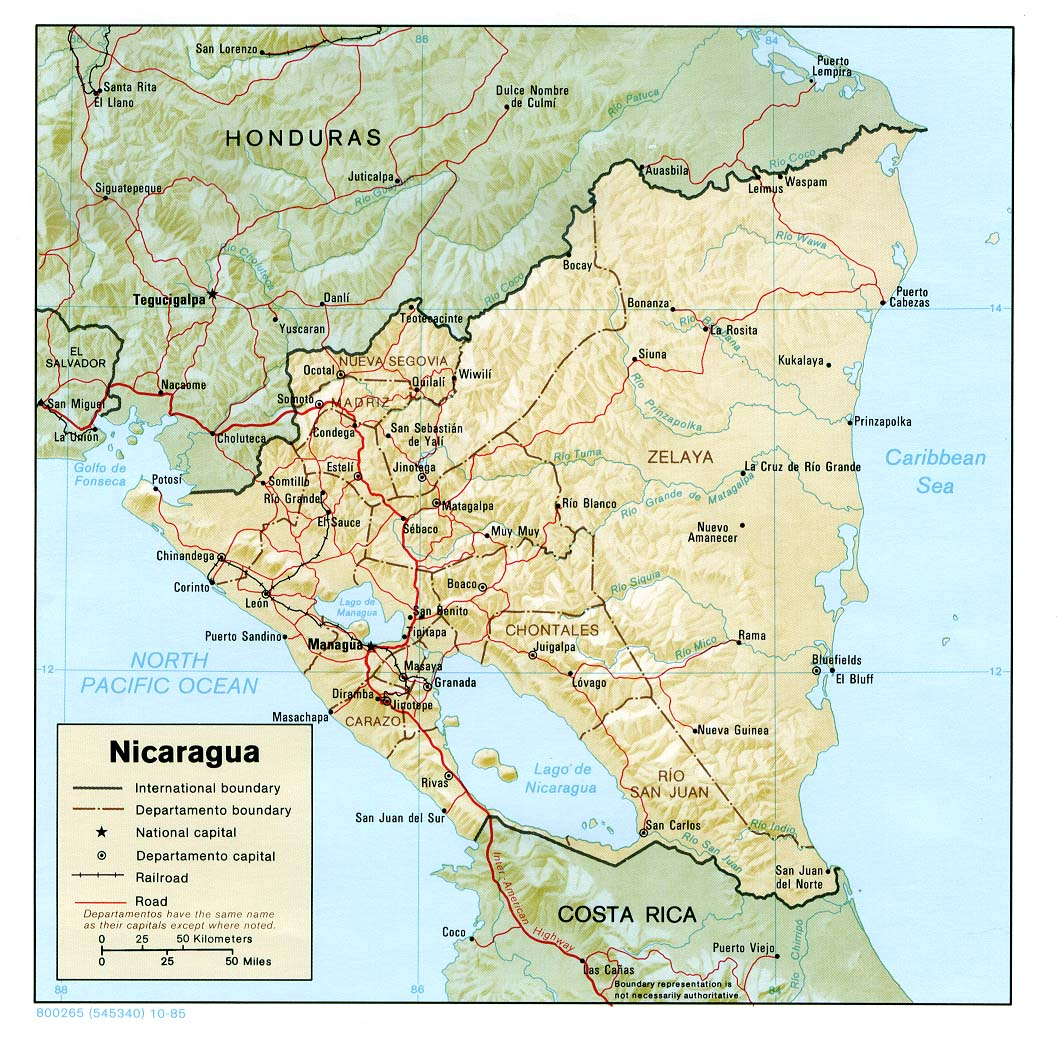 Maps of Nicaragua Map Library Maps of the World