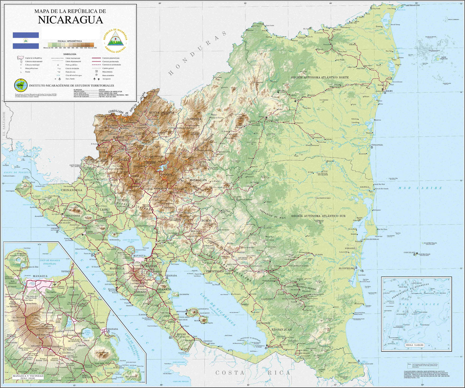 Maps Of Nicaragua Map Library Maps Of The World - Map nicaragua