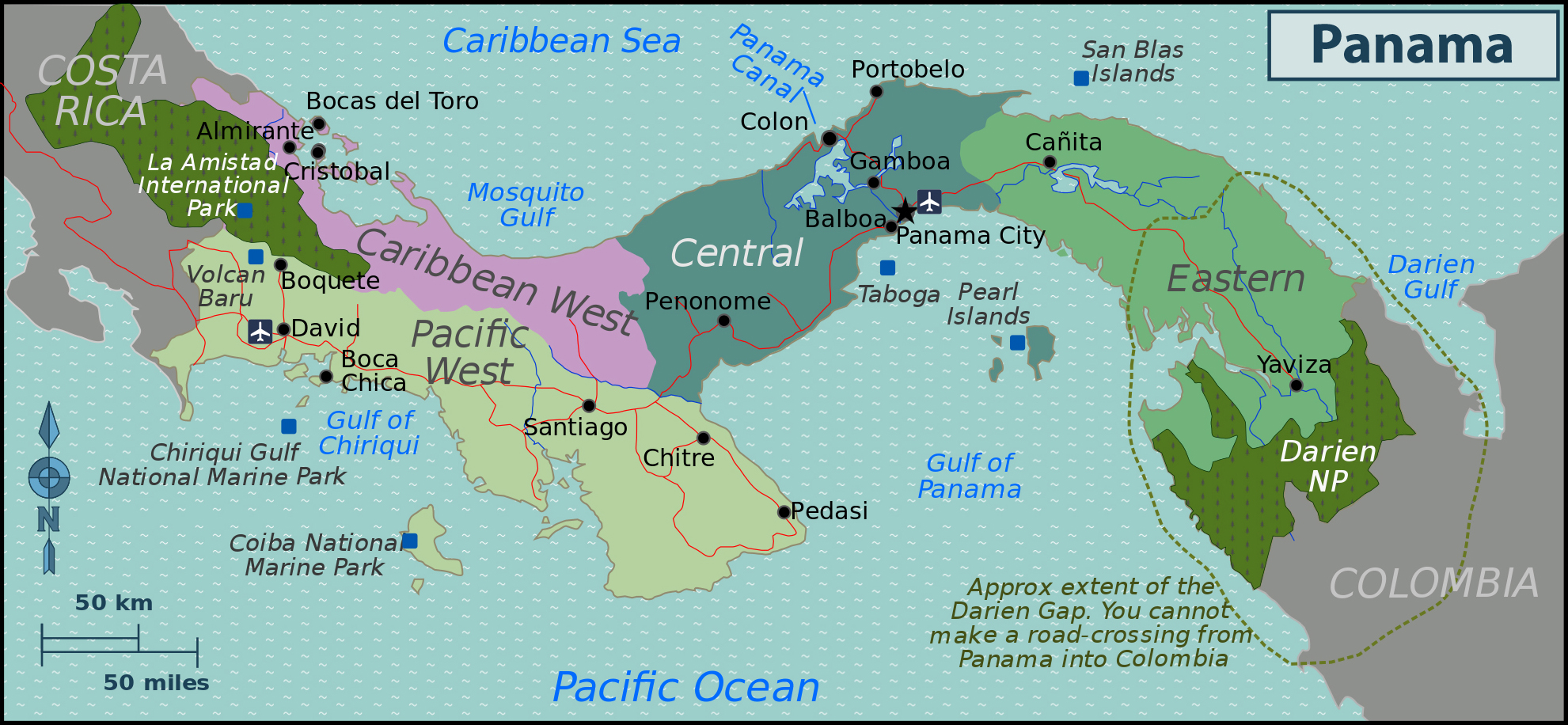 Maps Of Panama Map Library Maps Of The World