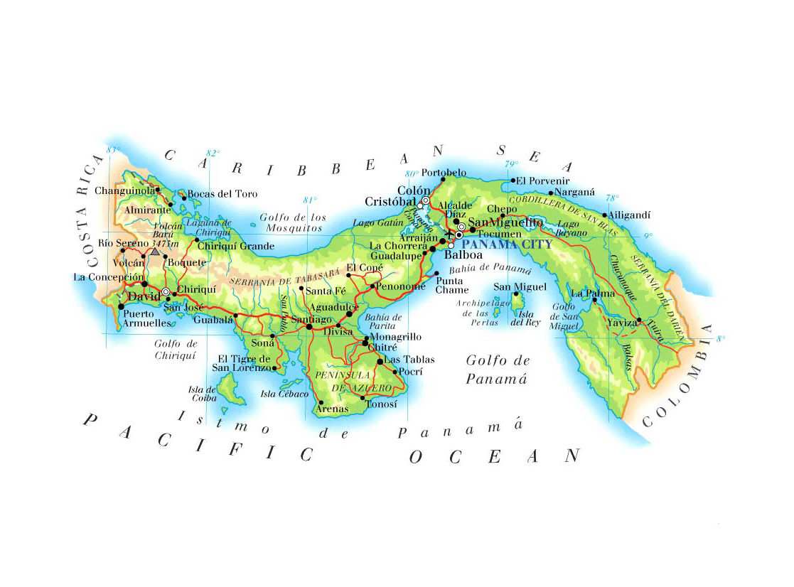Maps Of Panama Map Library Maps Of The World - Physical map of panama
