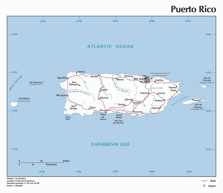 100 Bayamon Topographic Map Puerto Rico Elevation Of