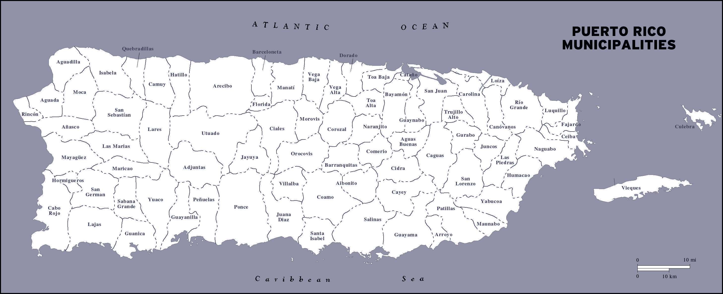 Maps of Puerto Rico | Map Library | Maps of the World