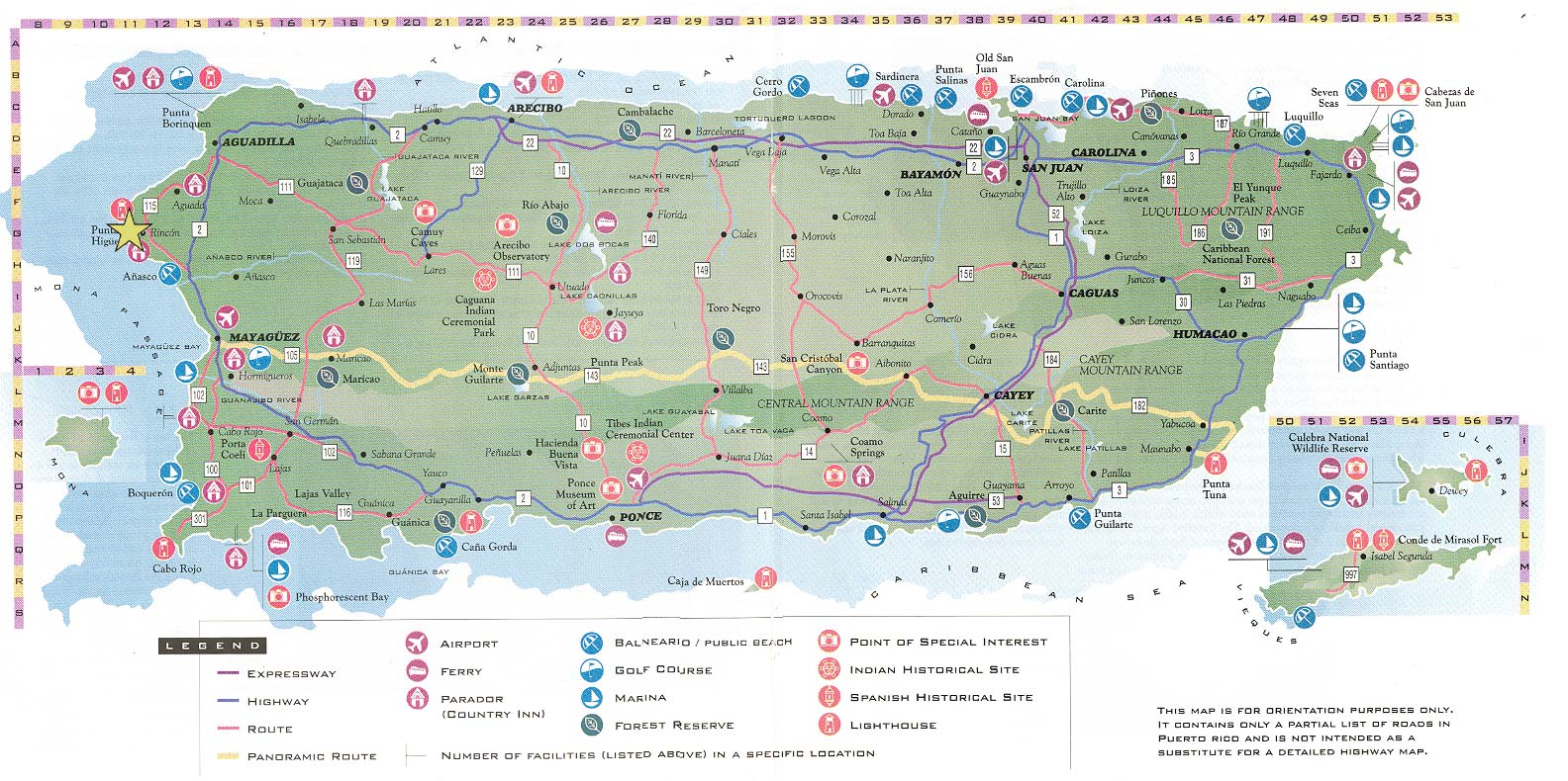 Maps of puerto rico map library maps of the world large detailed road and tourist map of puerto rico sciox Choice Image