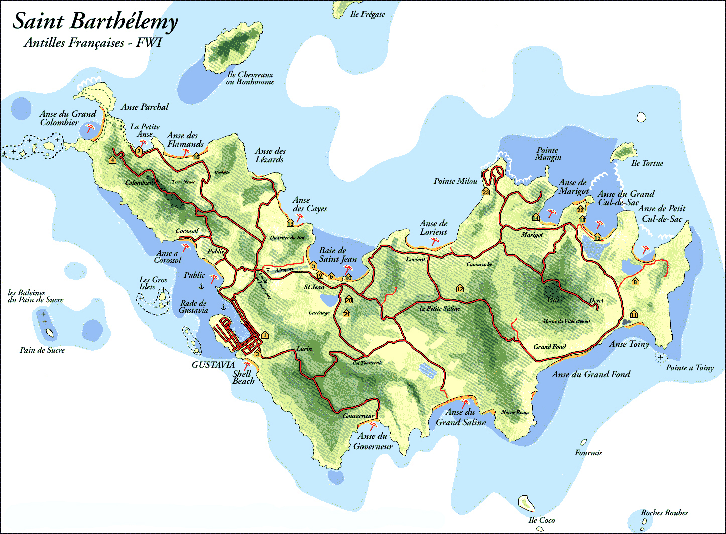 Maps of Saint Barthelemy Map Library Maps of the World