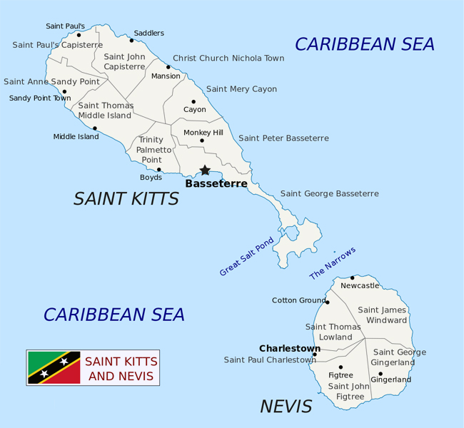 Maps of Saint Kitts and Nevis Map Library Maps of the World