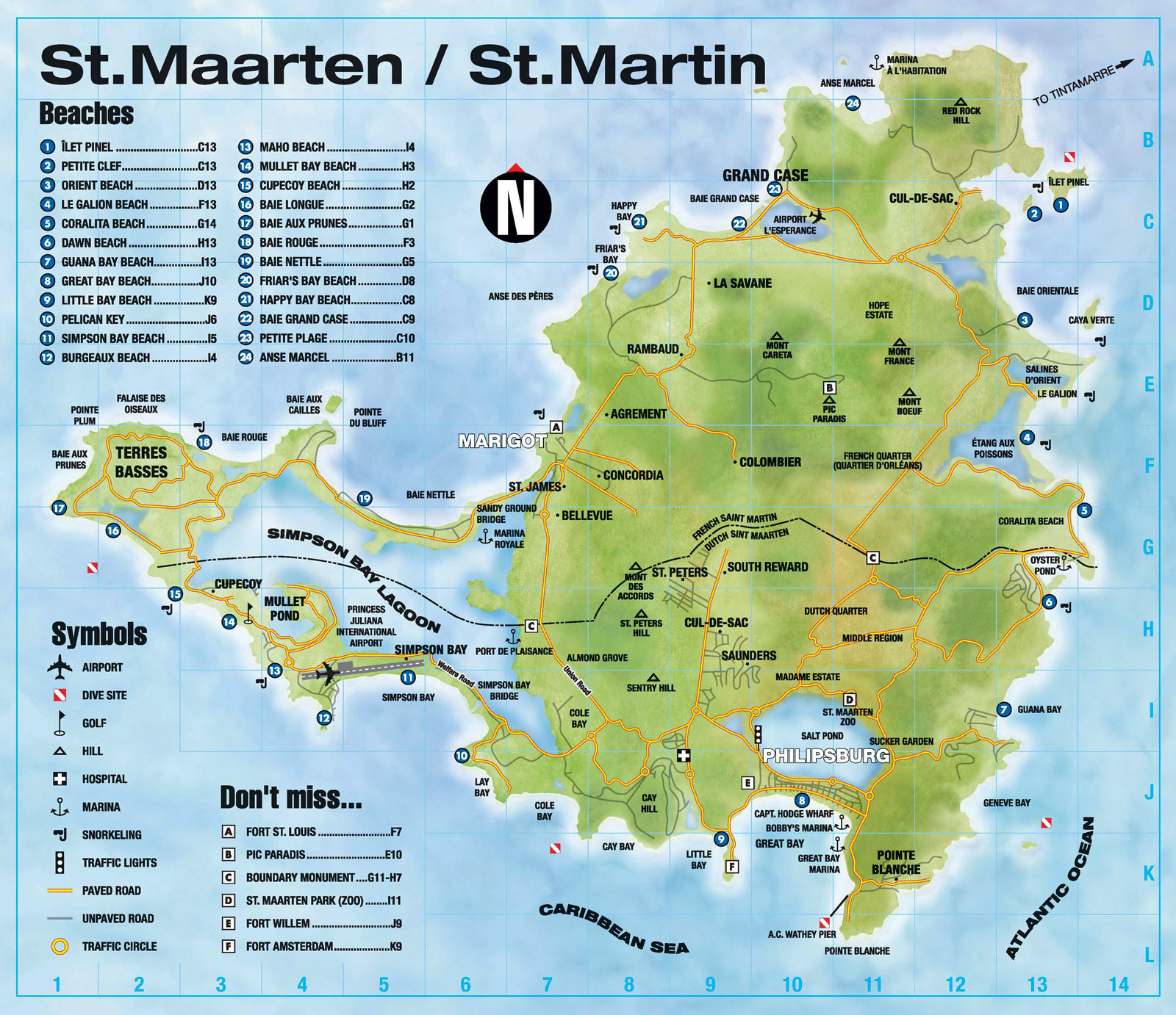 Maps of Saint Martin Map Library Maps of the World