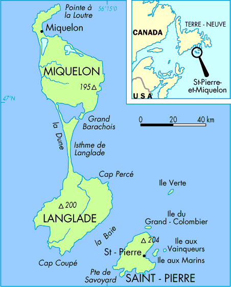 Maps of SaintPierre and Miquelon Map Library Maps of the World