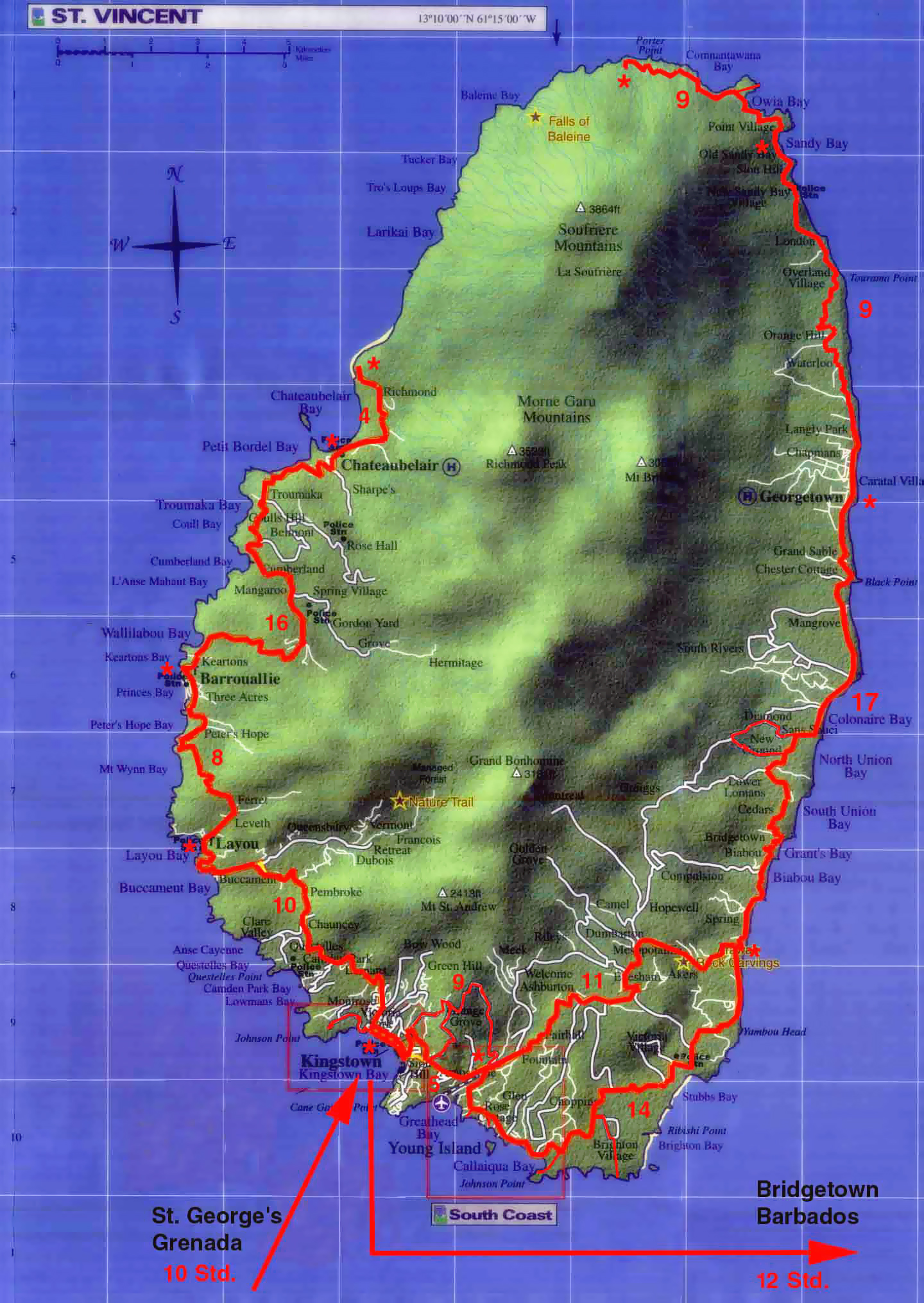Maps of Saint Vincent and Grenadines Map Library Maps of the World