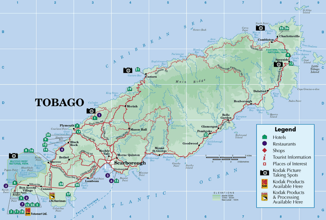 Maps of Trinidad and Tobago Map Library Maps of the World