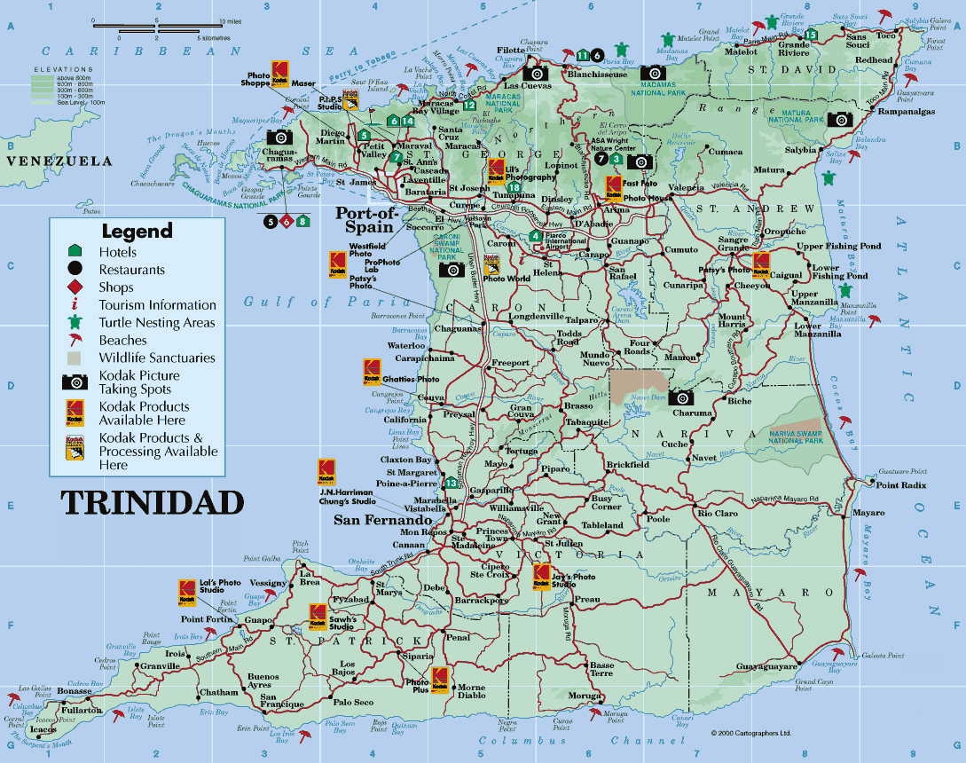 Maps of Trinidad and Tobago | Map Library | Maps of the World