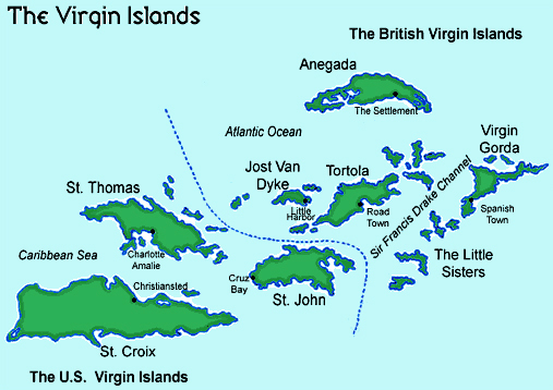 small map of virgin islands
