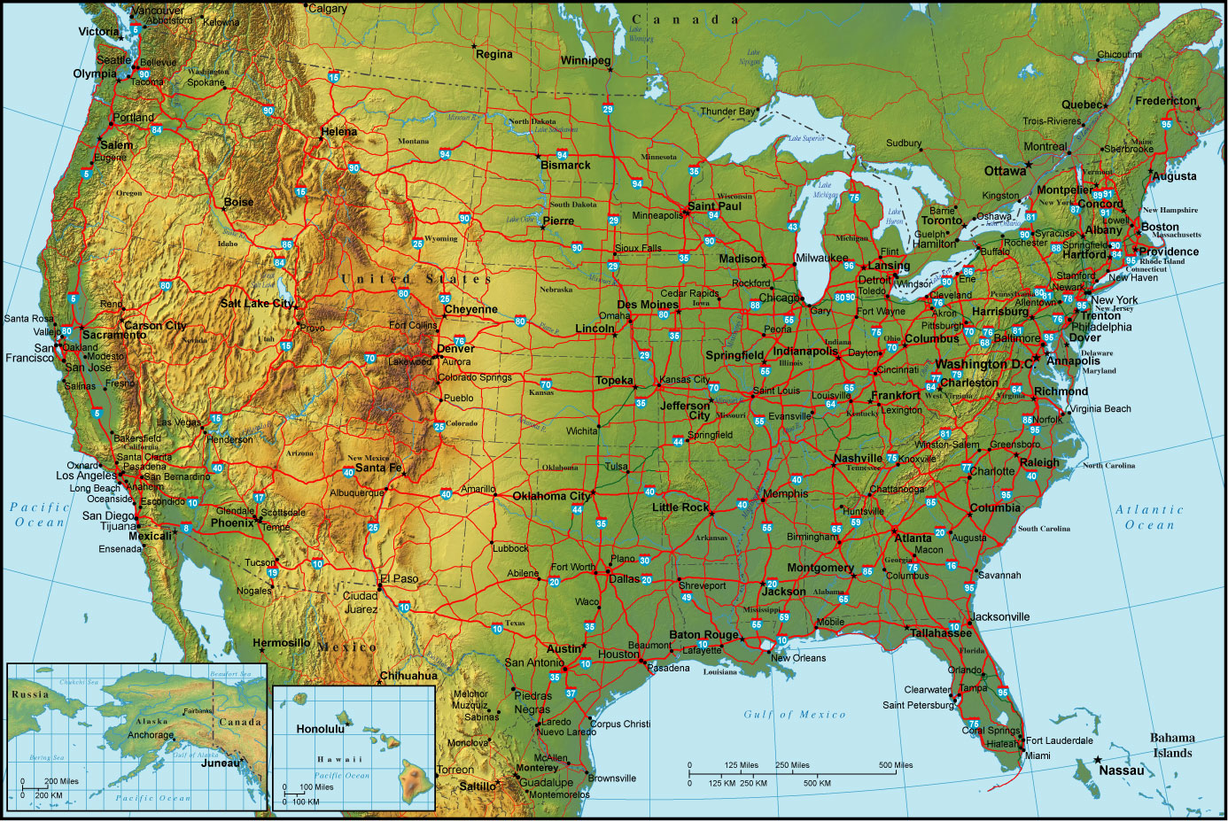 States Topo Map Maps Of The USA The United States Of America Map - Us topo maps for google earth