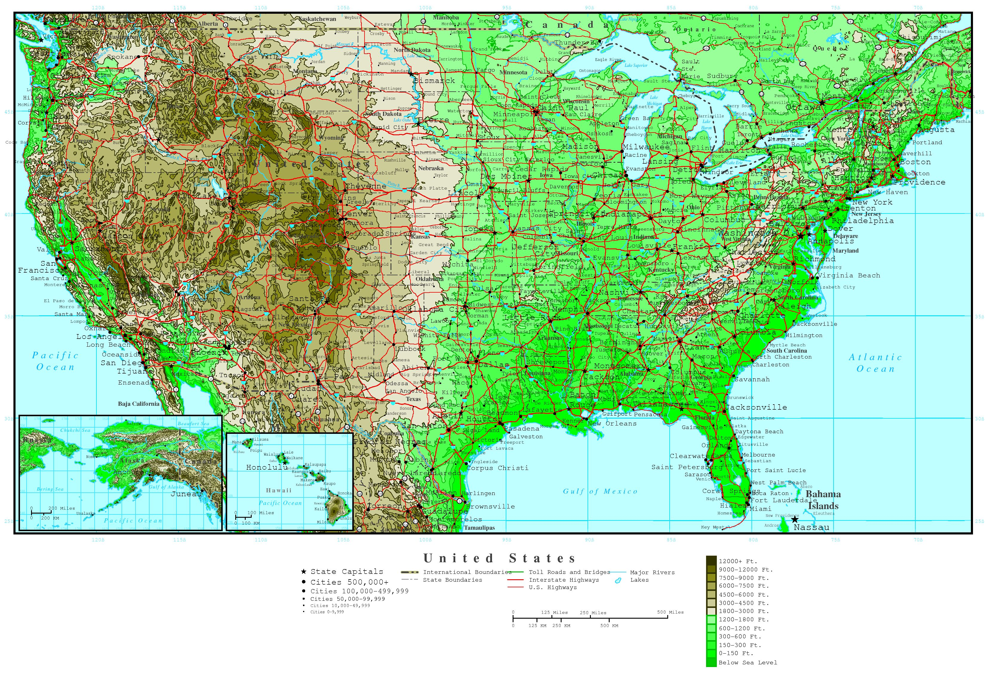 Maps Of The USA The United States Of America Map Library - Large detailed us map