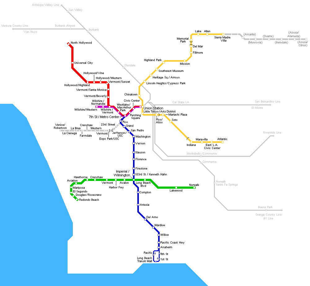 Los Angeles Subway Map 2016.Maps Of The Usa The United States Of America Map Library Maps