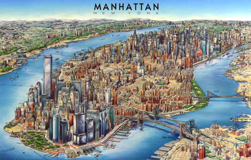 detailed 3d map of manhattan