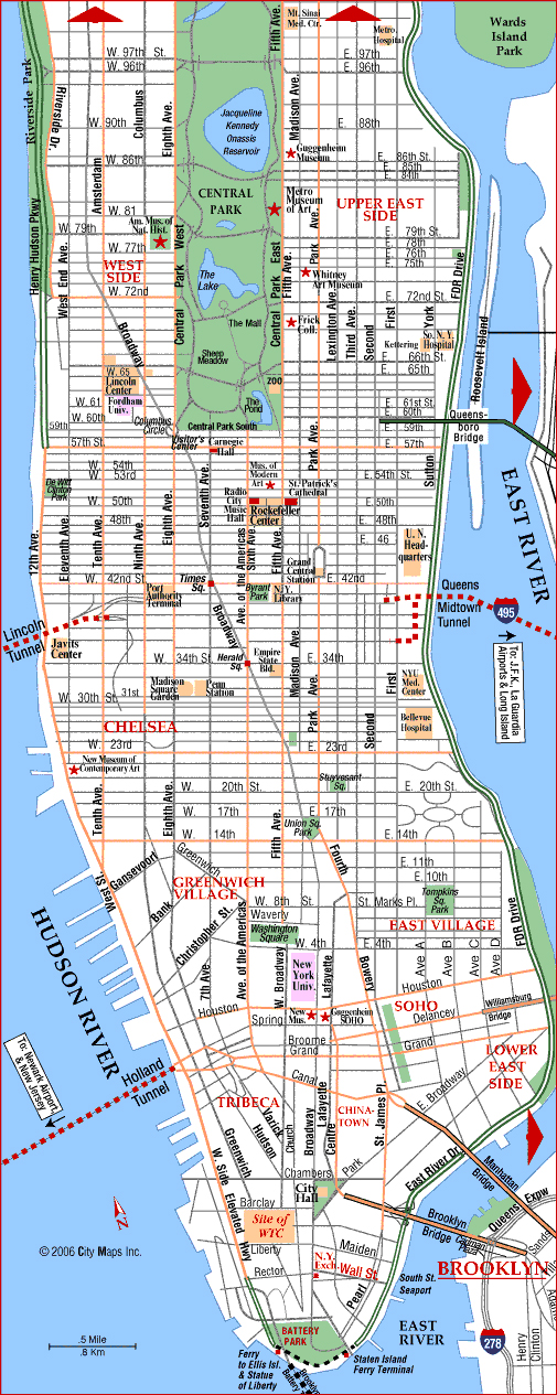 Detailed Map Of New York City.Maps Of The Usa The United States Of America Map Library Maps