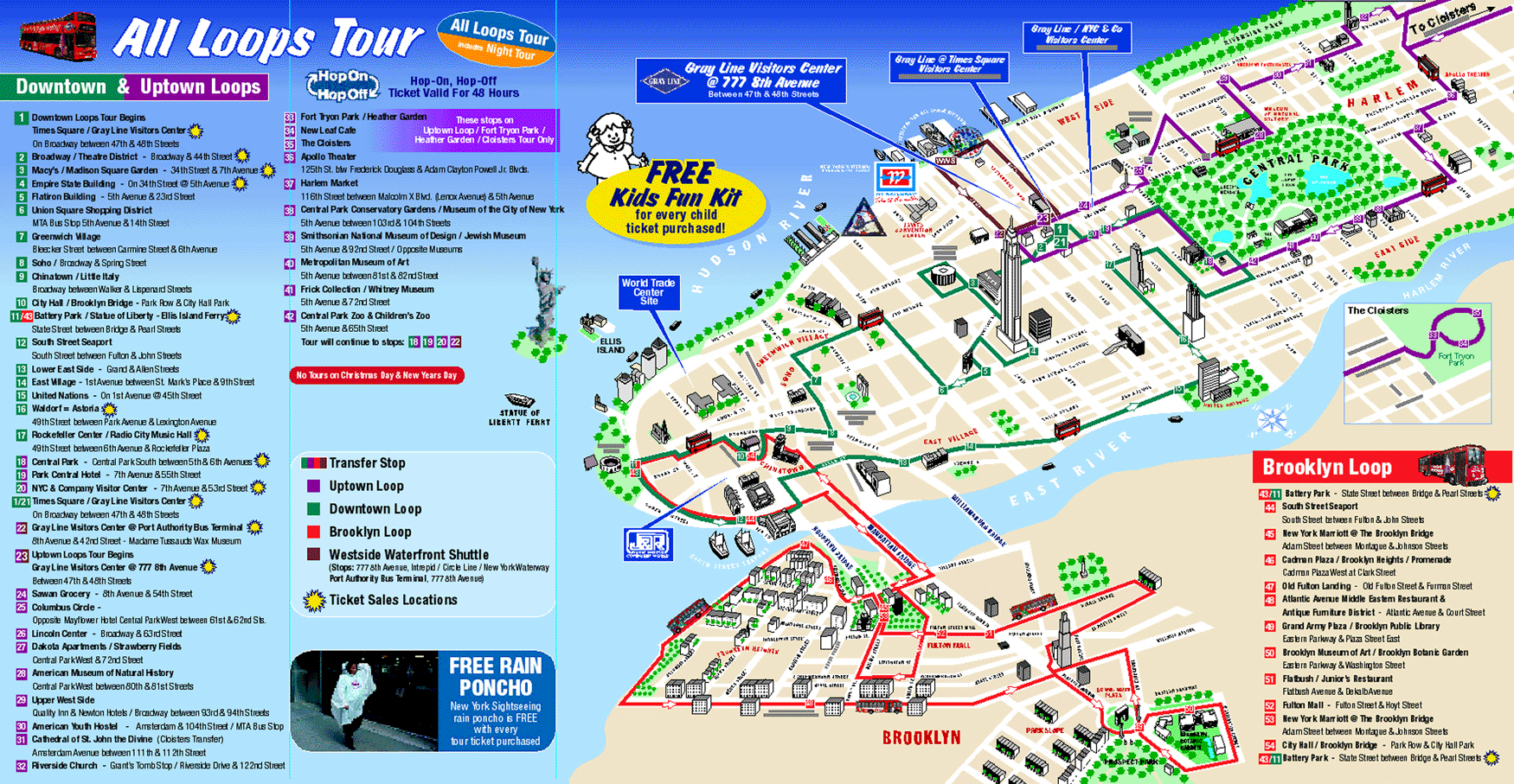Maps update 58022775 new york city tourist map printable for Top ten attractions new york