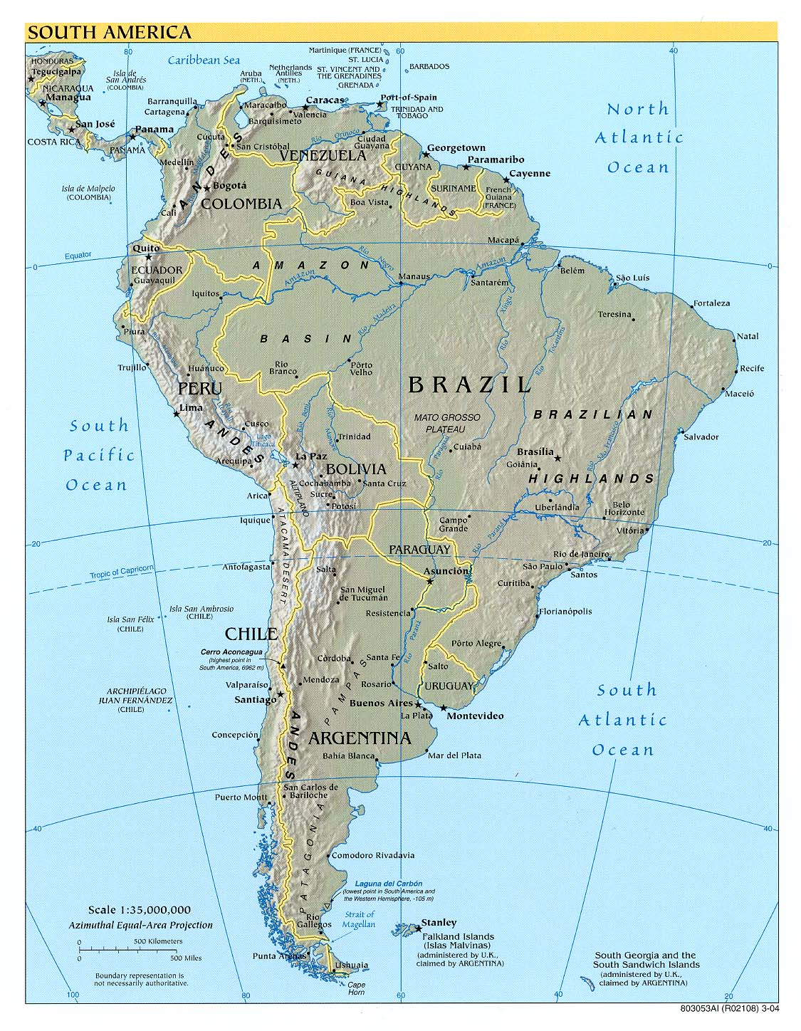 Maps of South America | Map Library | Maps of the World