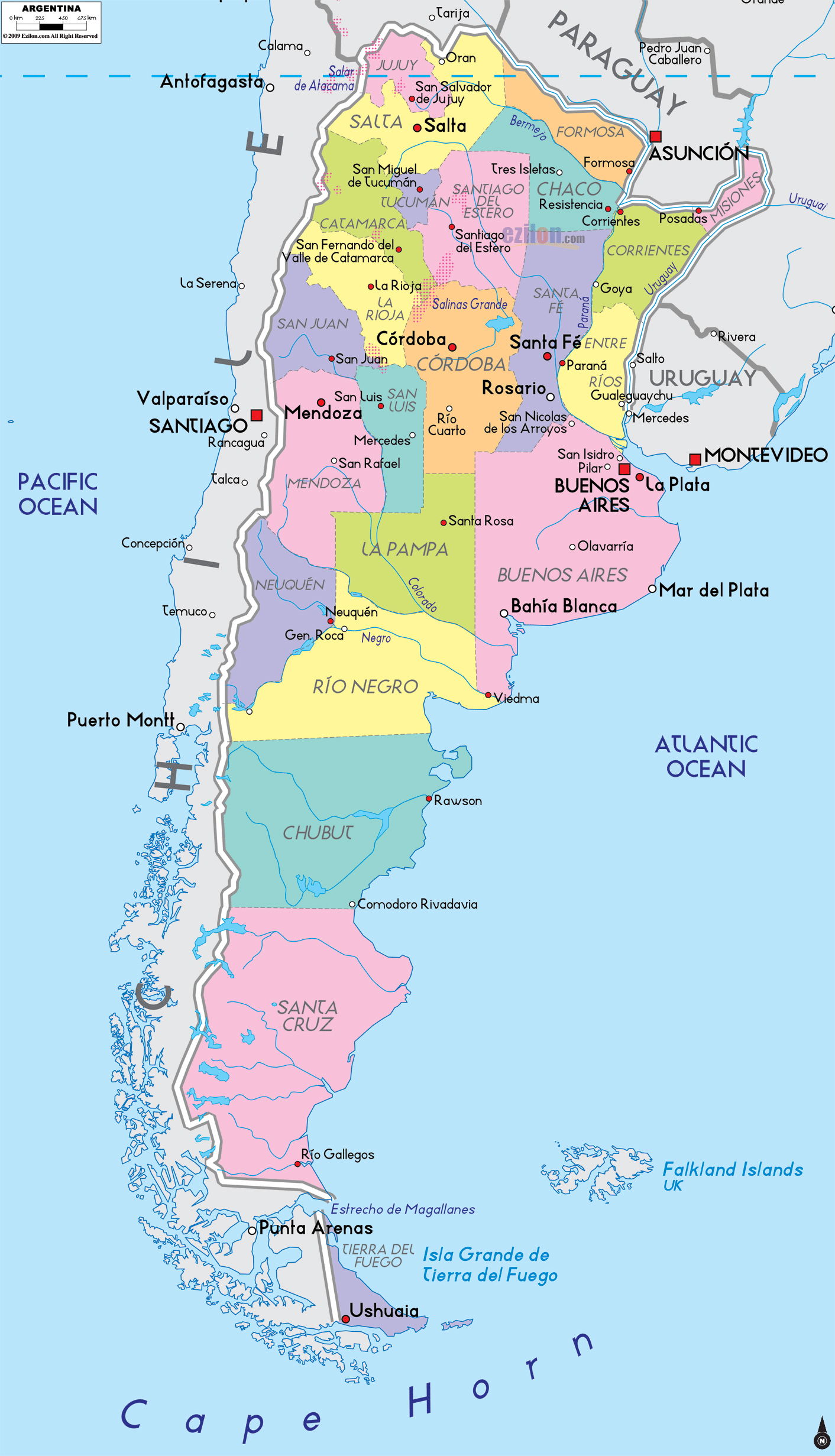 Maps Of Argentina Map Library Maps Of The World - Argentina map cities