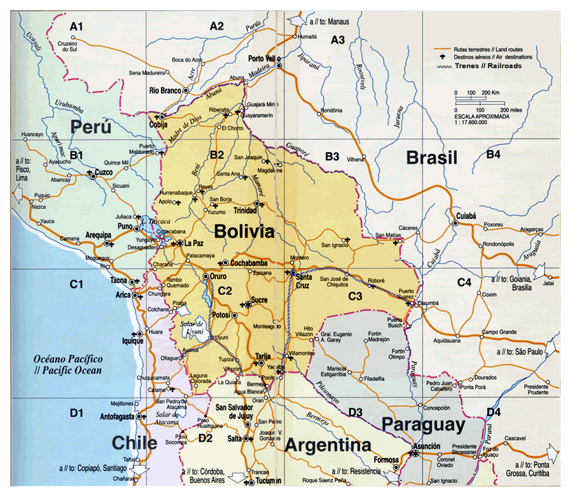 Maps Of Bolivia Map Library Maps Of The World