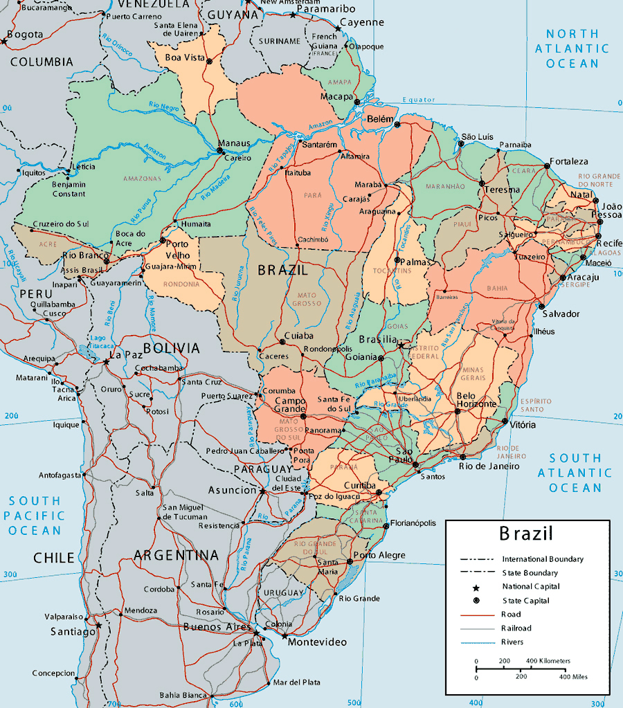 Maps of Brazil Map Library Maps of the World