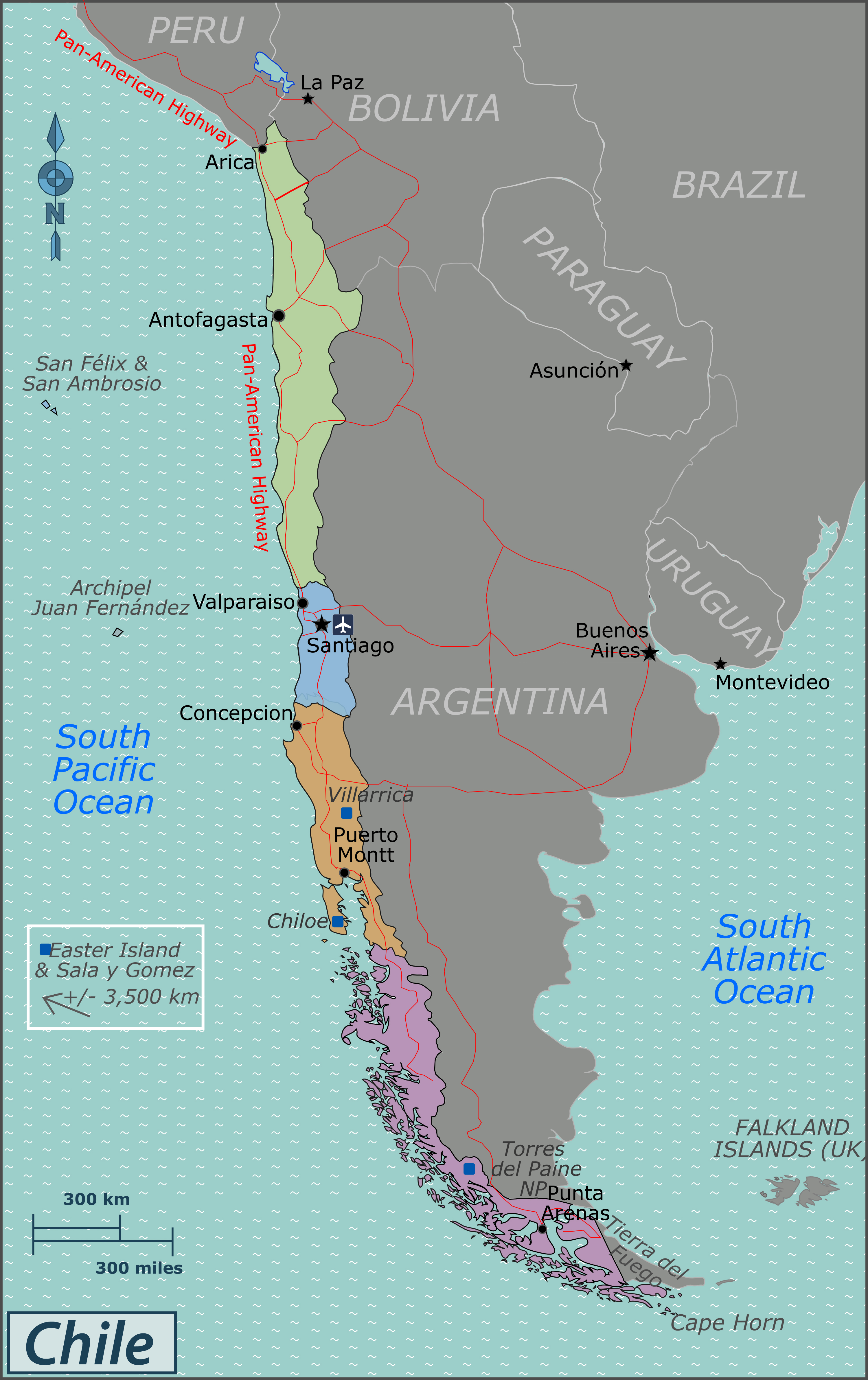 Maps of Chile Map Library Maps of the World