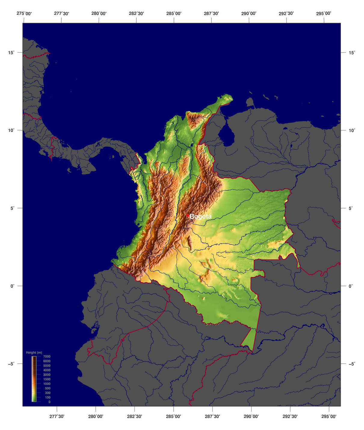 Maps of Colombia Map Library Maps of the World