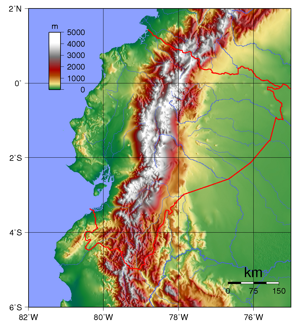 Maps of Ecuador Map Library Maps of the World