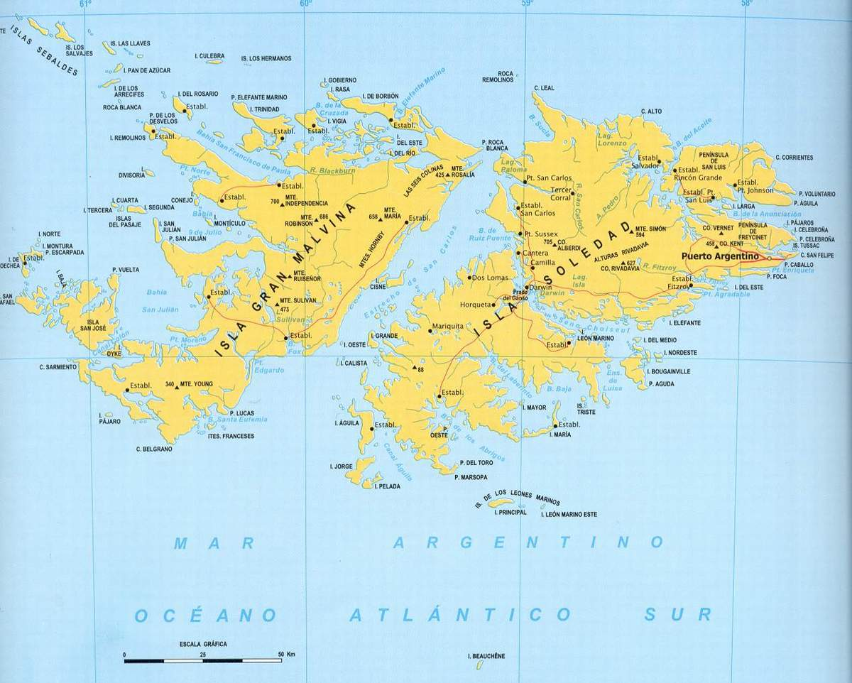 Maps of Falkland Islands Malvinas Map Library Maps of the World