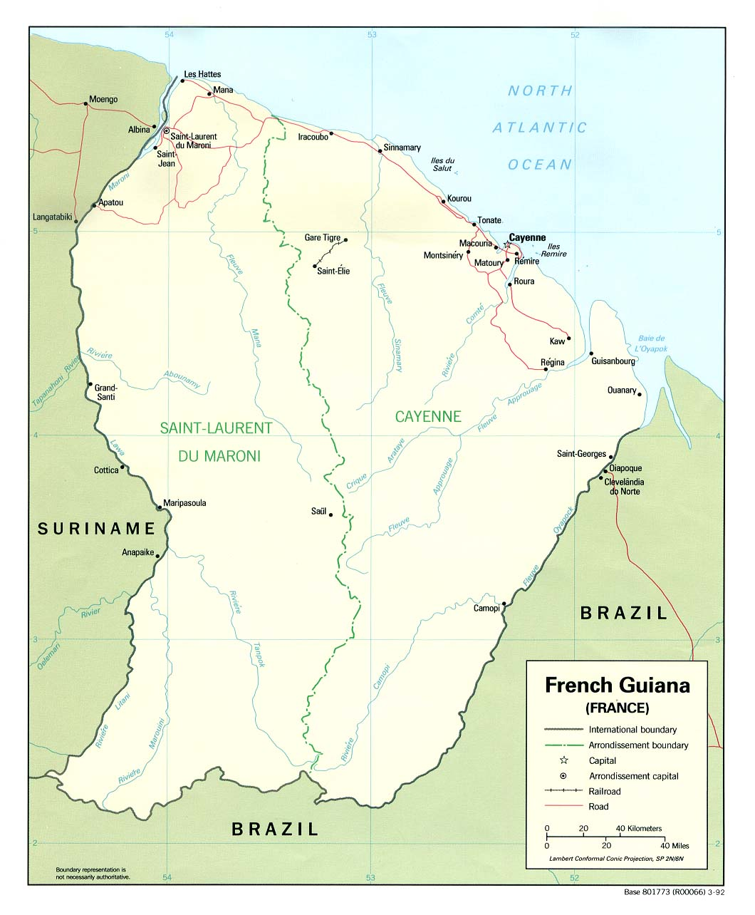 Maps of French Guiana Map Library Maps of the World