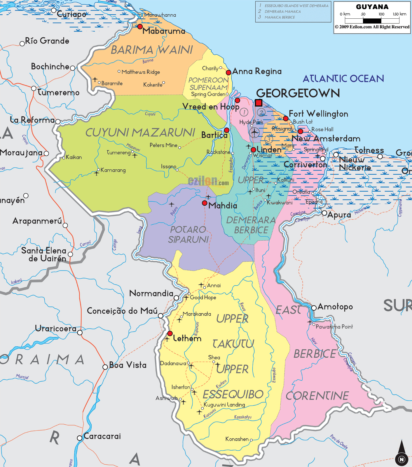 amap of africa with Maps Of Guyana on Where Is The  herlands further Where Is Rome also Index further Europe Map also Maps Of Guyana.
