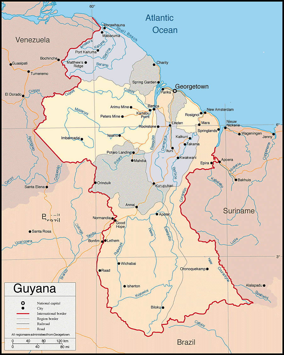 Maps of Guyana Map Library Maps of the World