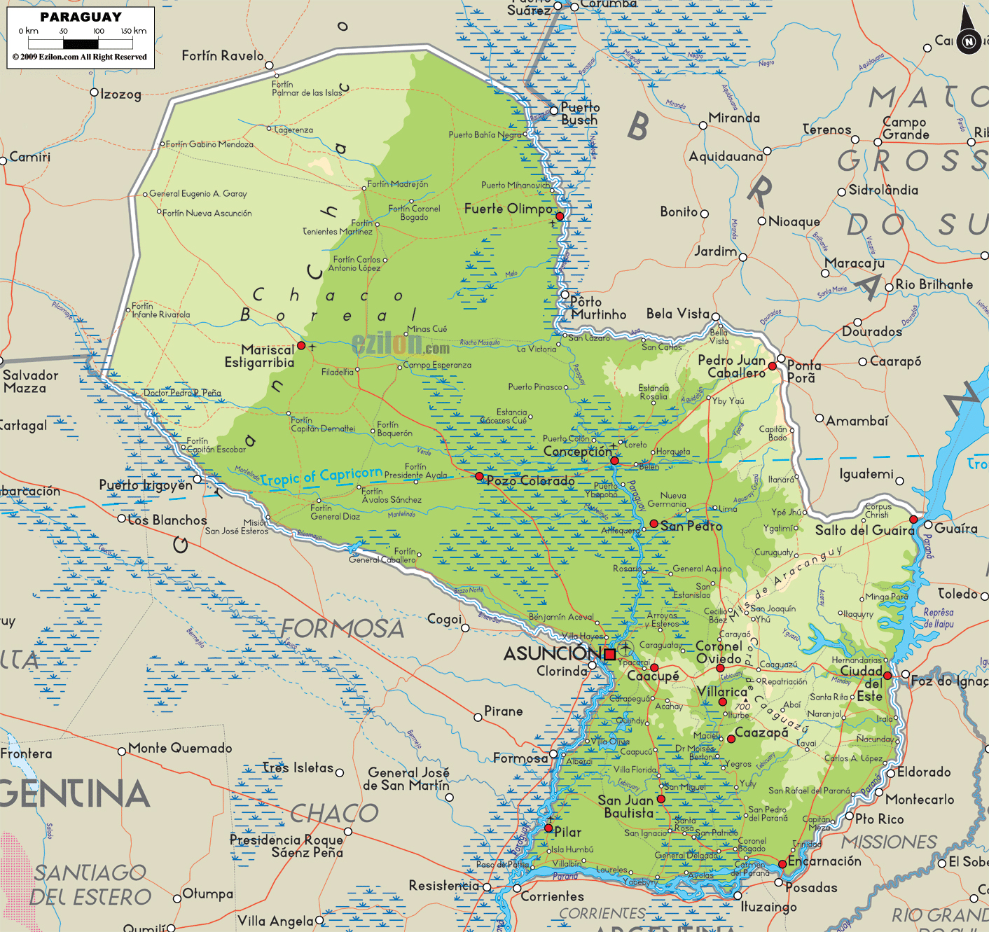 Maps of Paraguay | Map Library | Maps of the World