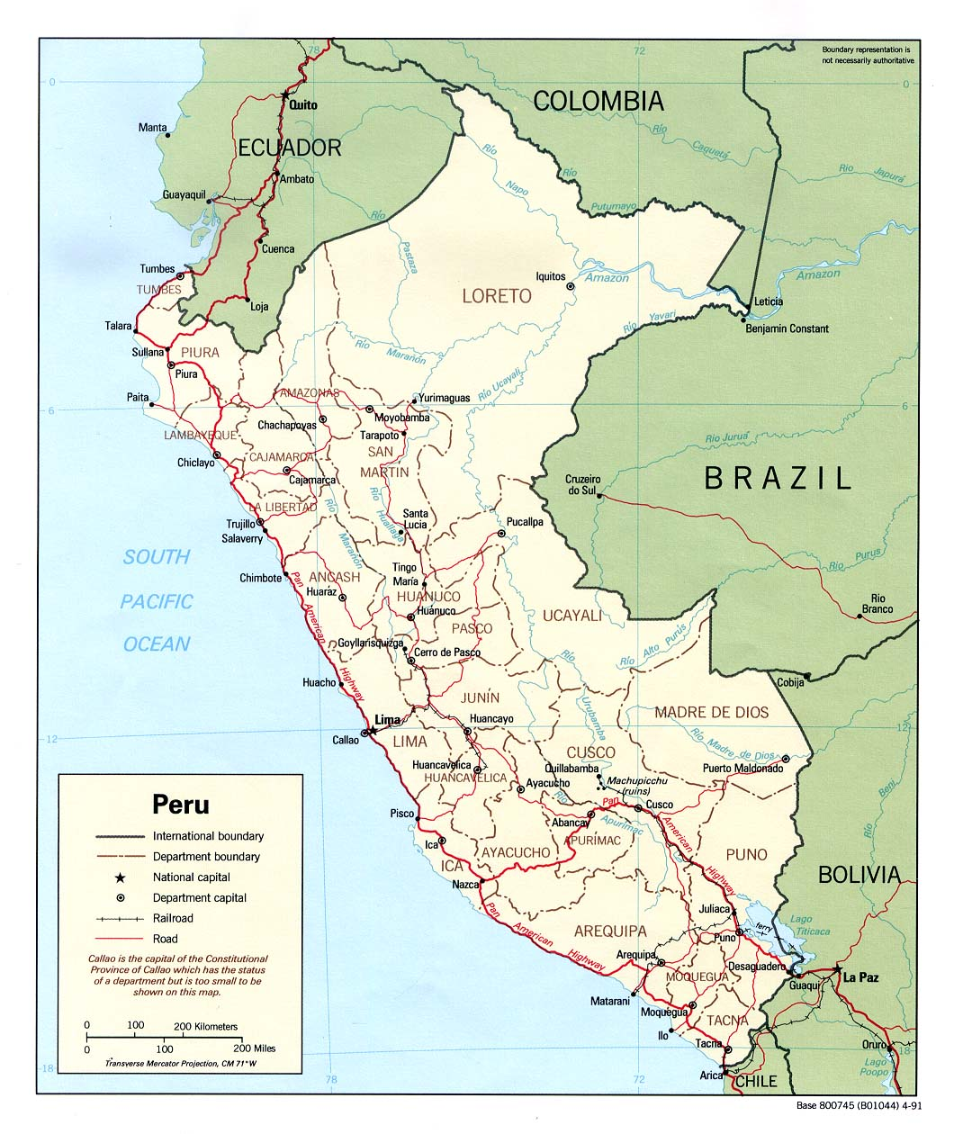 Maps of Peru Map Library Maps of the World