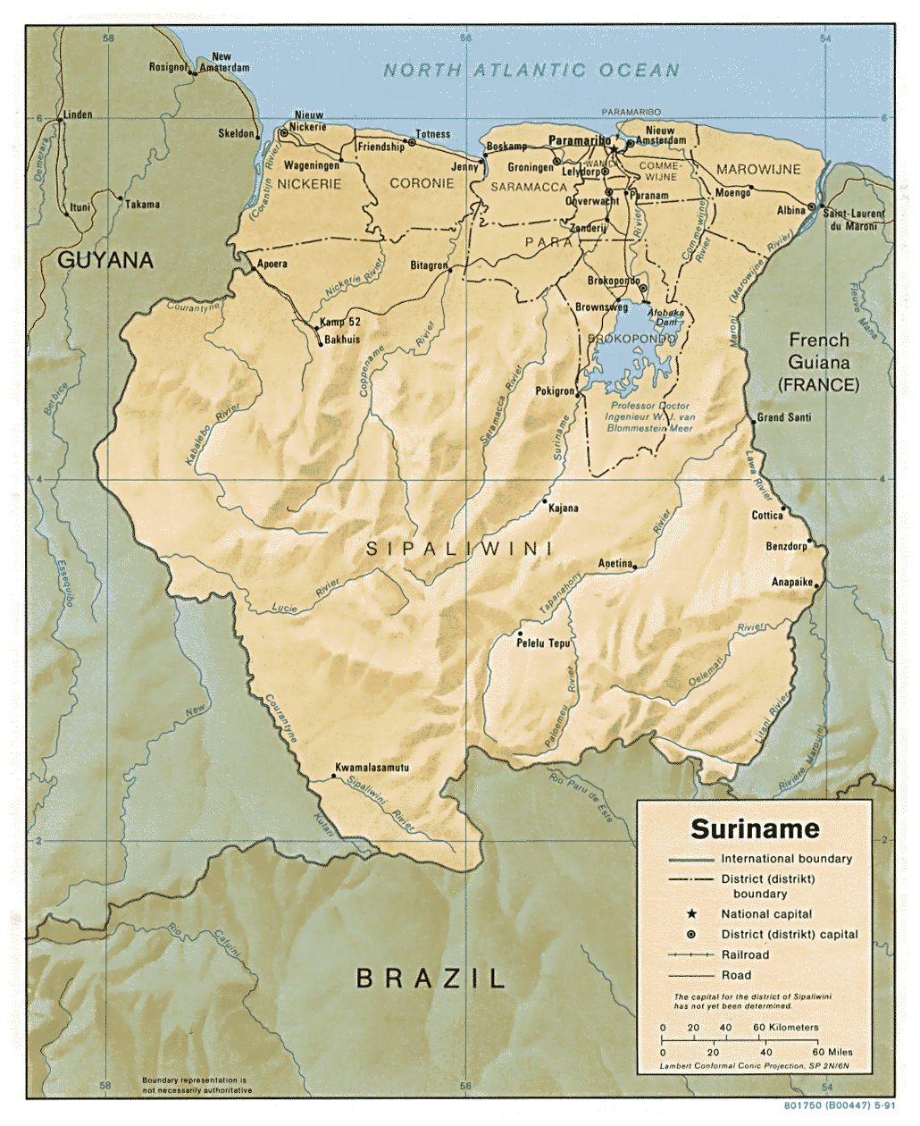 Maps of Suriname Map Library Maps of the World