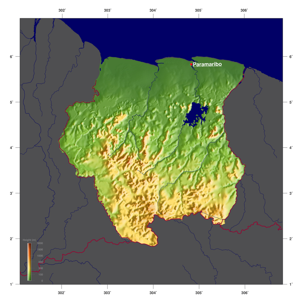 Surinam World Map.Maps Of Suriname Map Library Maps Of The World