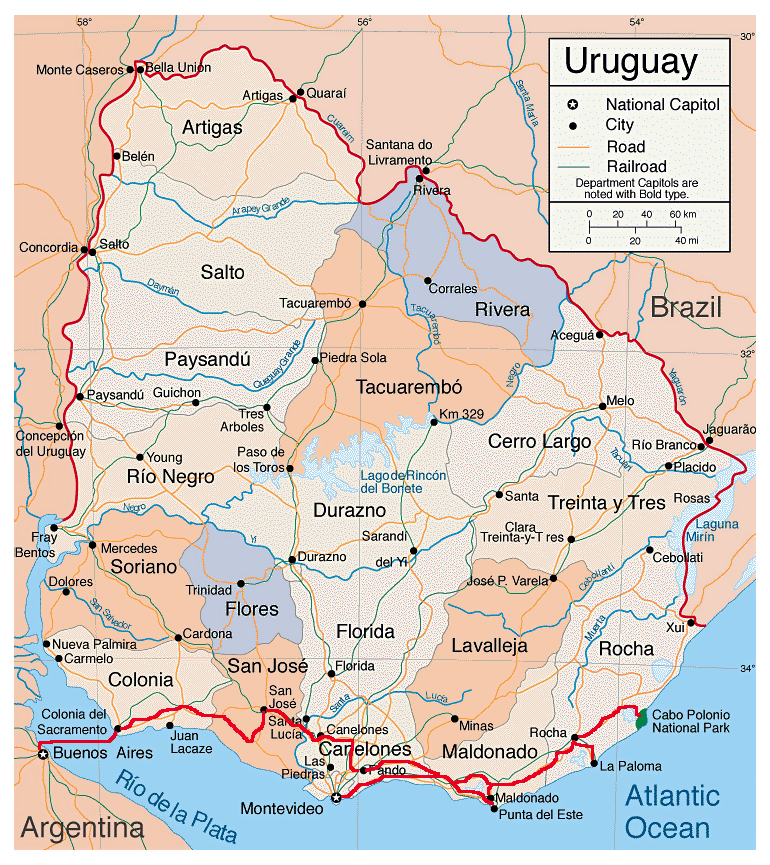 Maps of Uruguay | Map Library | Maps of the World