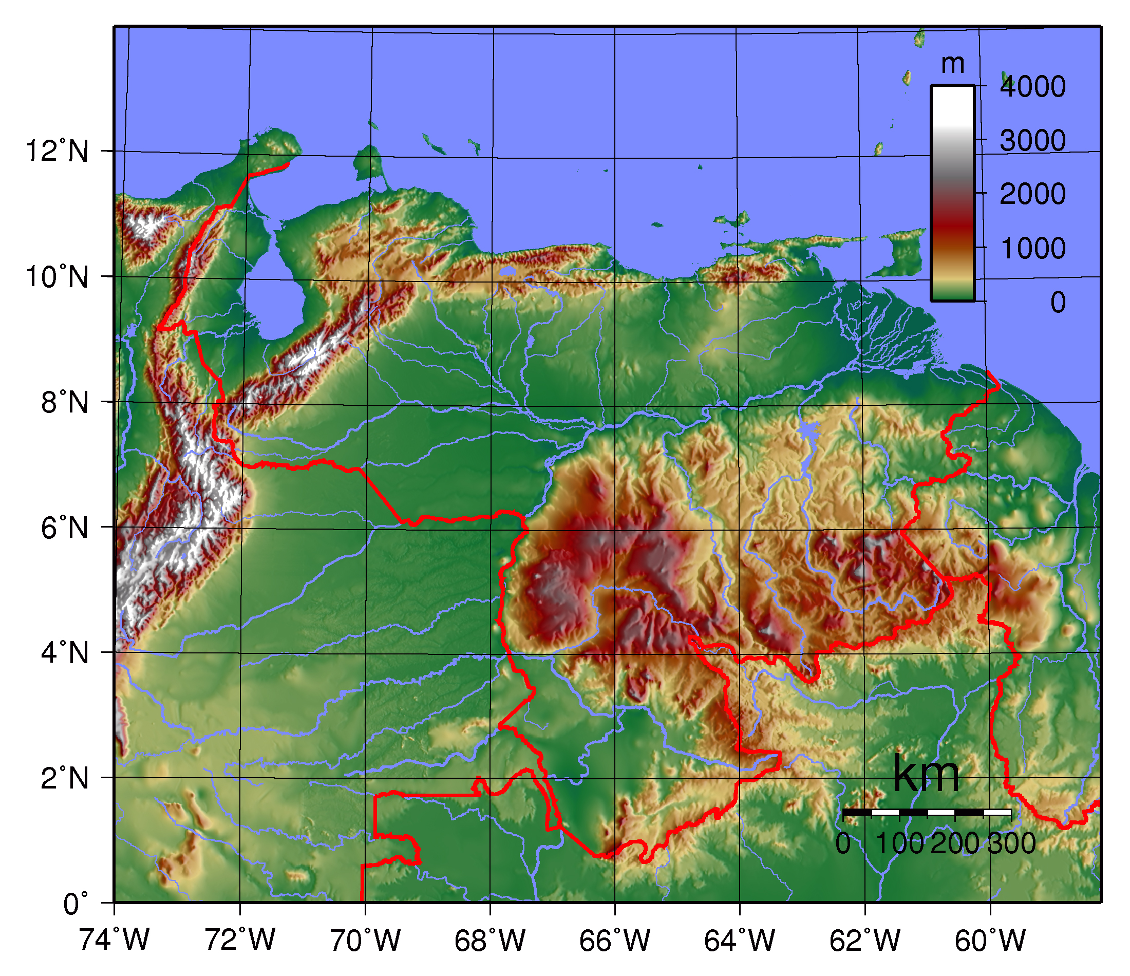 Maps Of Venezuela Map Library Maps Of The World - Physical of map venezuela