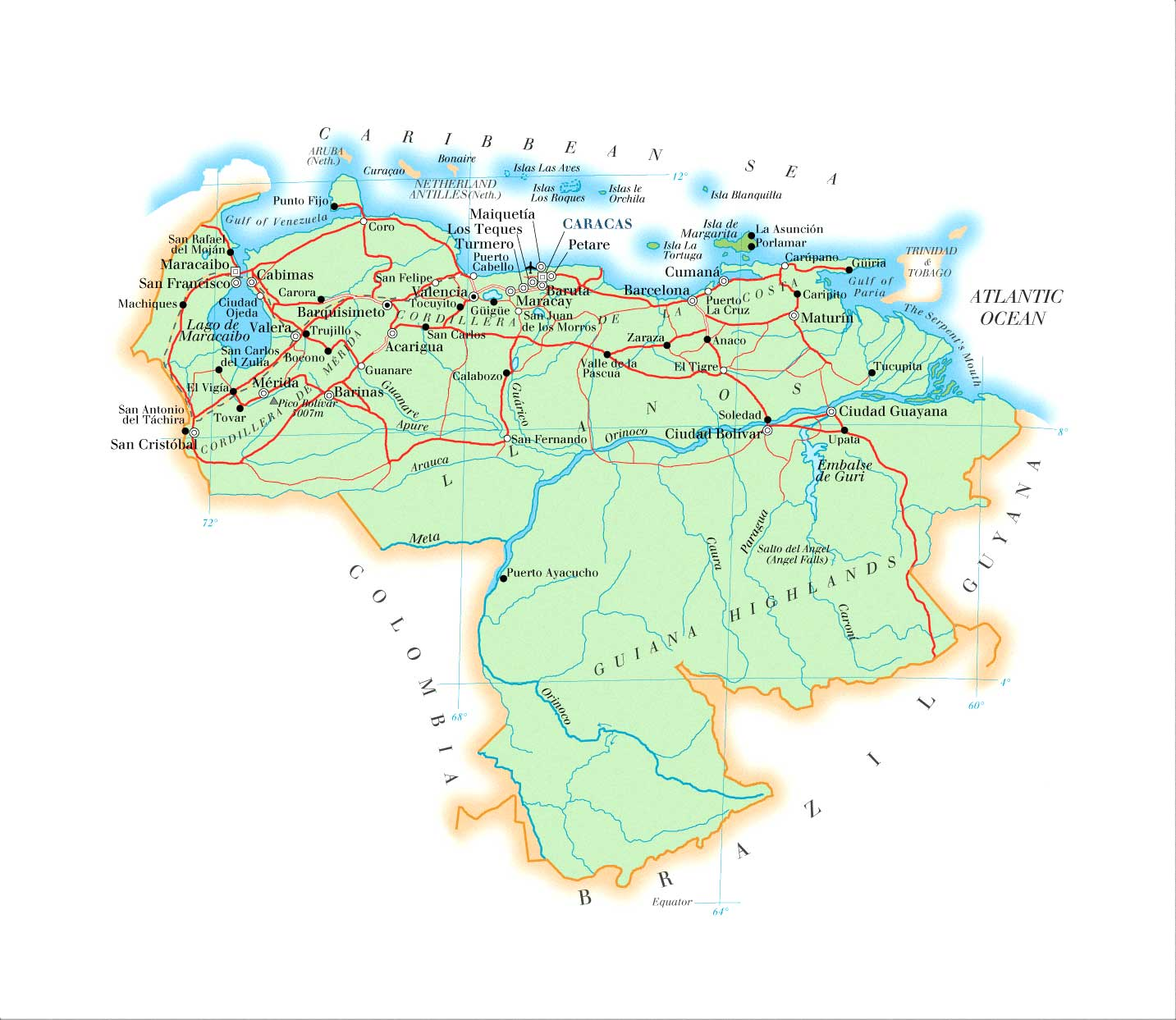 Maps Of Venezuela Map Library Maps Of The World - Map of venezuela south america
