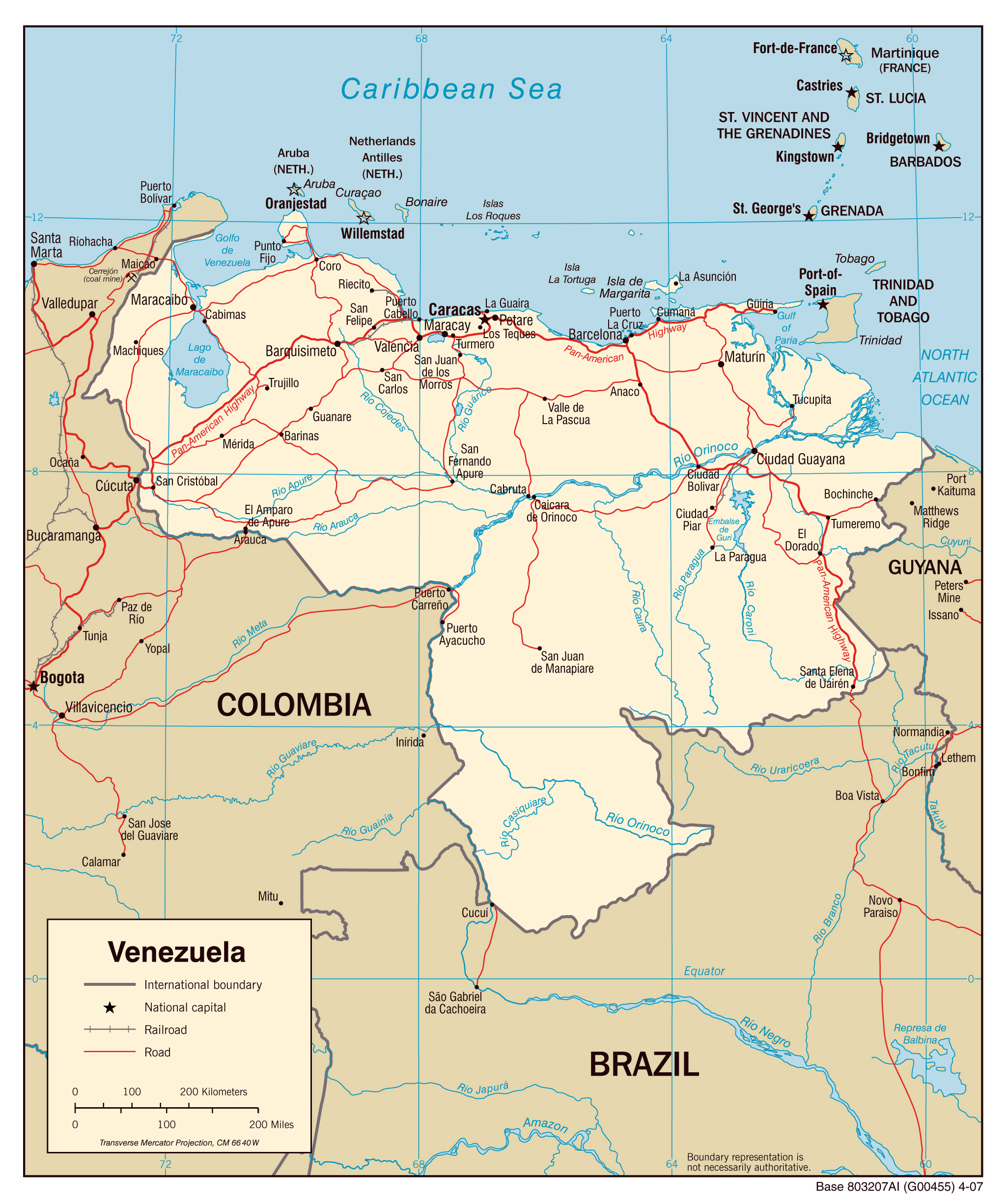 Maps of Venezuela Map Library Maps of the World